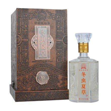 (清仓)42°北冬虫夏草酒30年皮盒500ml