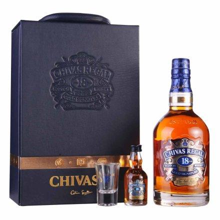 40°英国芝华士18年苏格兰威士忌礼盒700ml