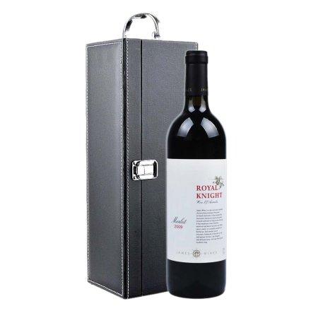澳洲詹姆士皇家骑士美露干红葡萄酒黑色礼盒装