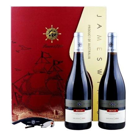 詹姆士BIN18西拉2009 干红葡萄酒(双支装)