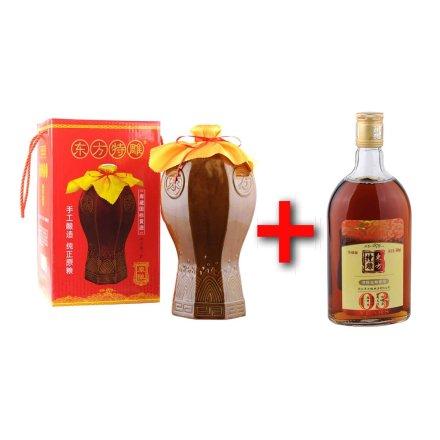 14°东方特雕陶瓷原酿黄酒3000ml+11°东方特雕清醇3年黄酒500ml