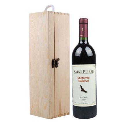 (清仓)圣皮尔加州特酿干红葡萄酒+单支松木盒