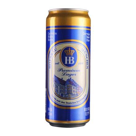 莱州HB皇家黄啤酒易拉罐500ml