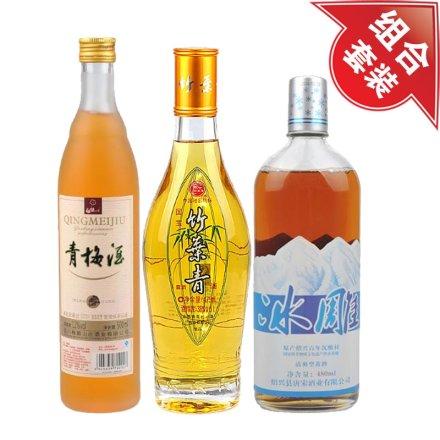 (清仓)12°青梅酒500ml+38°国宝竹叶青475ml+唐宋冰雕480ml