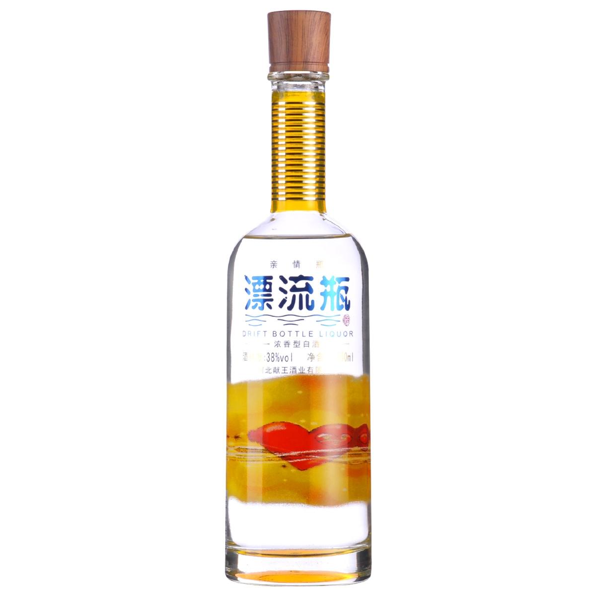 【清仓】38°漂流瓶酒350ml(亲情瓶)(2014年)