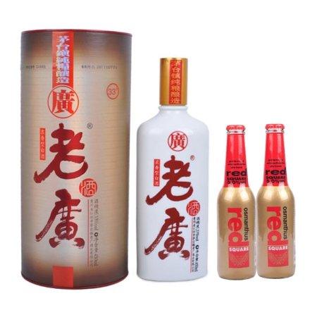 (清仓)33°老广酒450ml+红广场金桂花味(2瓶)