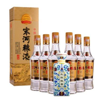 50°宋河粮液1988金奖纪念酒475ml*6+39°兰陵瓷瓶陈香250ml
