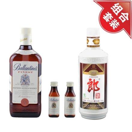 (清仓)40°百龄坛特醇苏格兰威士忌礼盒+53°老郎酒1956 500ml