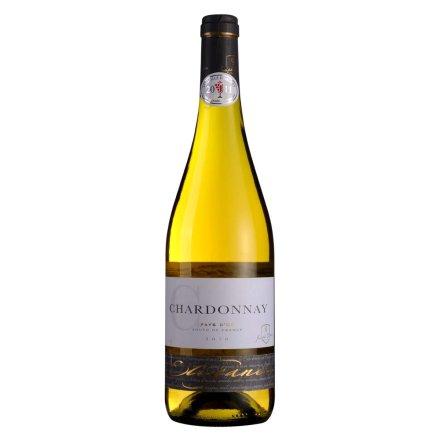 法国优雅系列莎当妮干白葡萄酒750ml