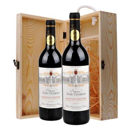 法国克洛斯城堡干红双支松木礼盒