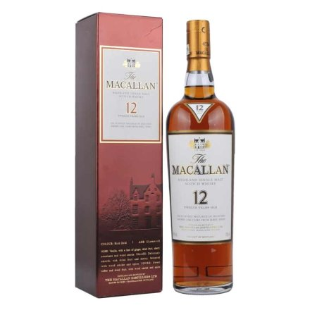 40°麦卡伦12年苏格兰威士忌700ml