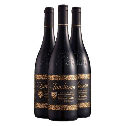 法国朗迪干红葡萄酒750ml(3瓶装)
