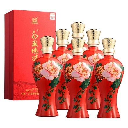 52°泸州老窖永盛烧坊老窖专酿红装纪念酒500ml(6瓶装)