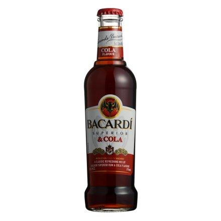 5.5°百加得绝+朗姆预调酒系列可乐味275ml