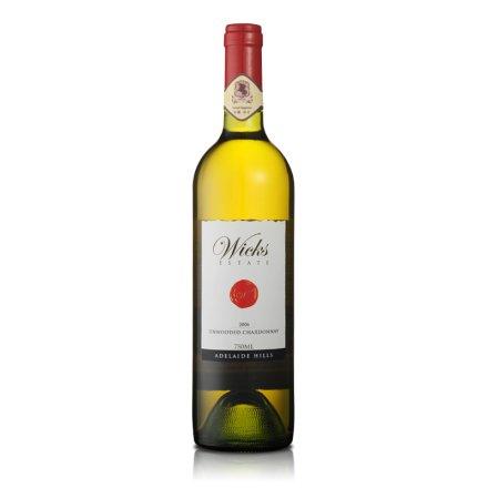 澳洲威克斯清纯莎当妮干白葡萄酒750ml