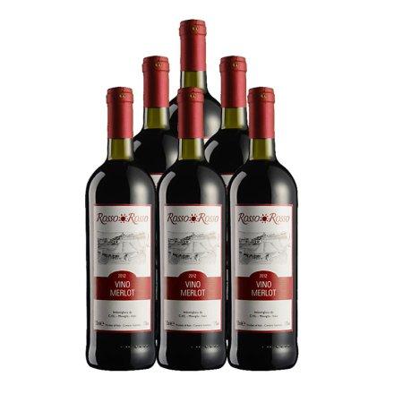 意大利红与红梅洛干红葡萄酒750ml(6瓶装)