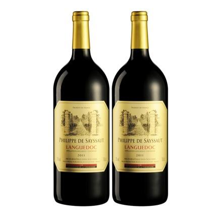 法国菲利普萨特红葡萄酒1500ml(双瓶装)