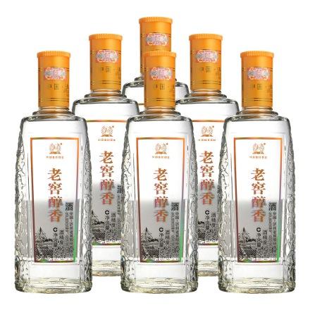 52°泸州老窖老窖醇香光瓶450ml(6瓶装)