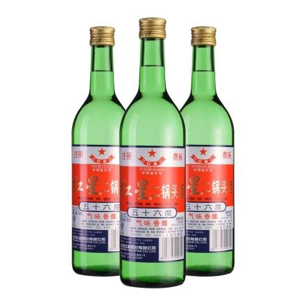 56°红星美国出口二锅头(大美)750ml(3瓶装)