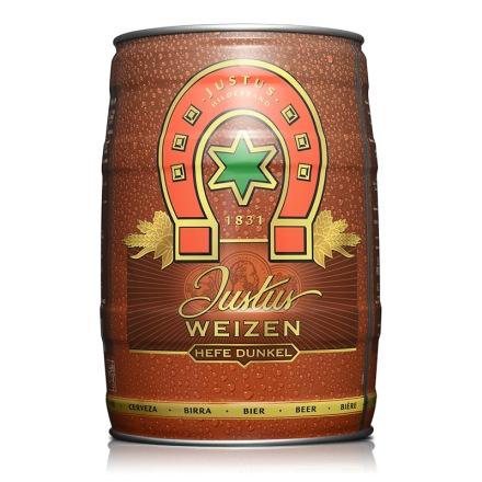 德国黑森马蹄黑啤酒5L