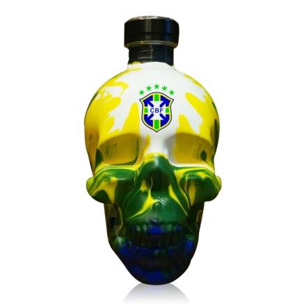 40°水晶头骨伏特加世界杯手绘限量版(巴西队)750ml