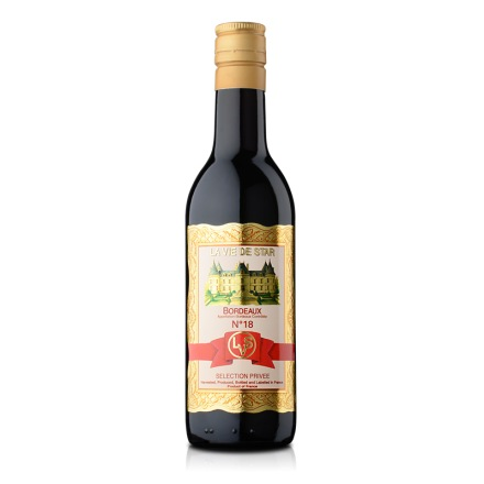 【清仓】法国拉维之星18号波尔多红葡萄酒187ml