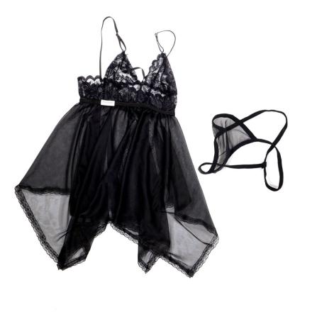 黑色吊带裙