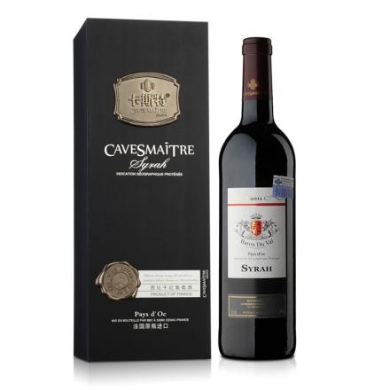 13°法国卡斯特帝亚西拉干红葡萄酒750ml