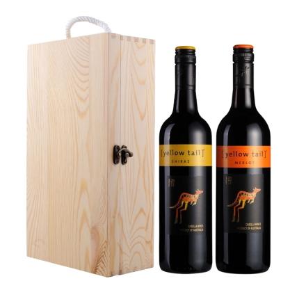 澳大利亚黄尾袋鼠双支松木礼盒