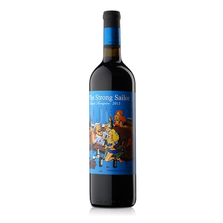 【清仓】12.5°澳洲詹姆士漂客水手2013赤霞珠干红葡萄酒 蓝标750ml