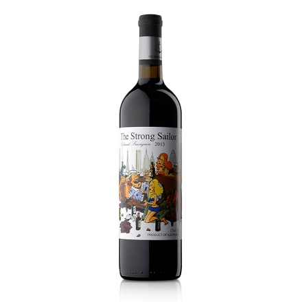 【清仓】12.5°澳洲詹姆士漂客水手2013赤霞珠干红葡萄酒 白标750ml