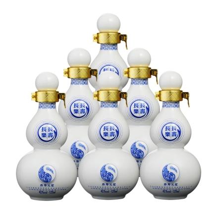 42°长寿长乐青花瓷125ml(6瓶装)