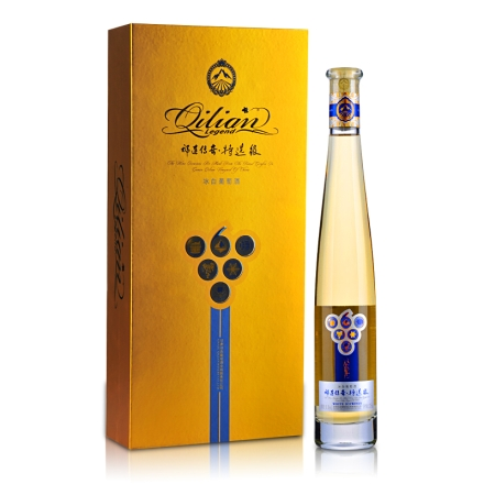 祁连传奇冰白葡萄酒(冰酒)375ml金色礼盒