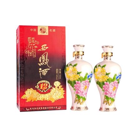45°西凤酒国花瓷国色天香12年500ml(双瓶装)