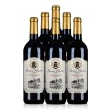 法国AOC查尔斯科比埃法定产区红葡萄酒750ml(6瓶套装)