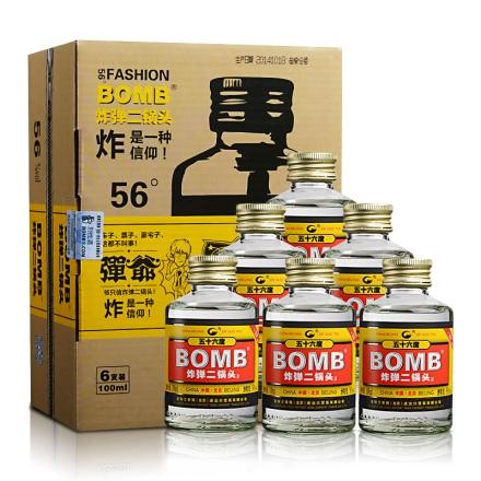 【周末大清仓】56°炸弹二锅头(弹爷六瓶套装)