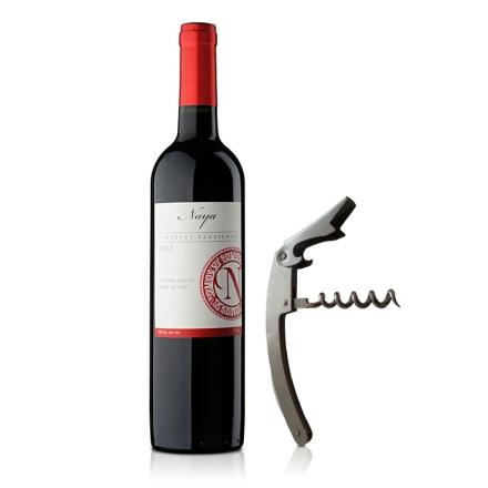 智利娜雅赤霞珠红葡萄酒750ml+淘乐怡酒刀