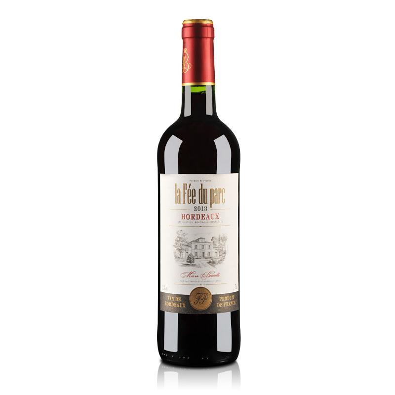 【清仓】法国红酒波尔多AOC菲德帕克干红葡萄酒750ml