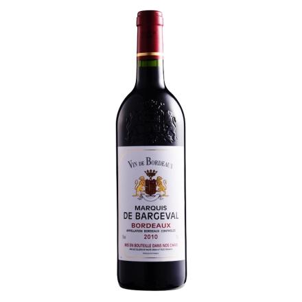 【清仓】法国波尔多AOC伯尔瓦侯爵2010干红葡萄酒750ml