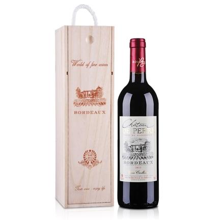 法国波尔多德贝城堡AOC干红葡萄酒单支礼盒