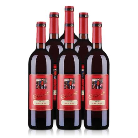 10°艾斯卡特玫瑰红甜葡萄酒750ml(6瓶装)