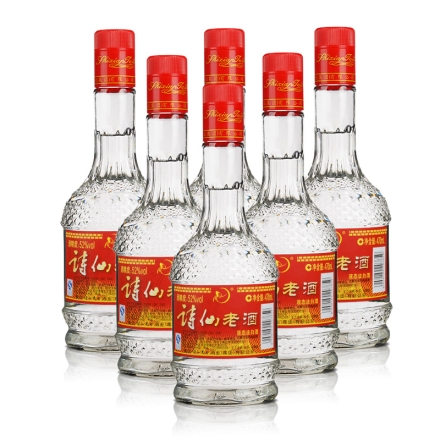 52°诗仙太白简装老酒470ml(6瓶装)