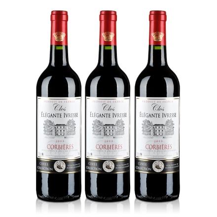 法国克罗雅酒庄特酿红葡萄酒750ml(3瓶装)
