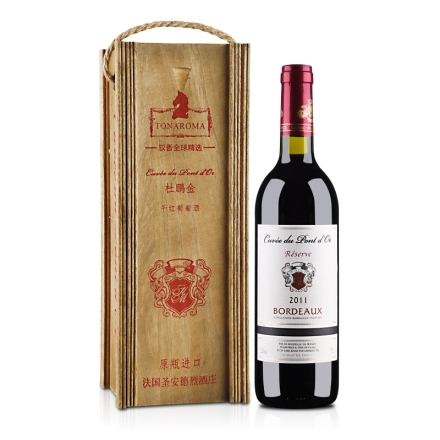 法国波尔多杜鹏金AOP(AOC)干红葡萄酒750ml
