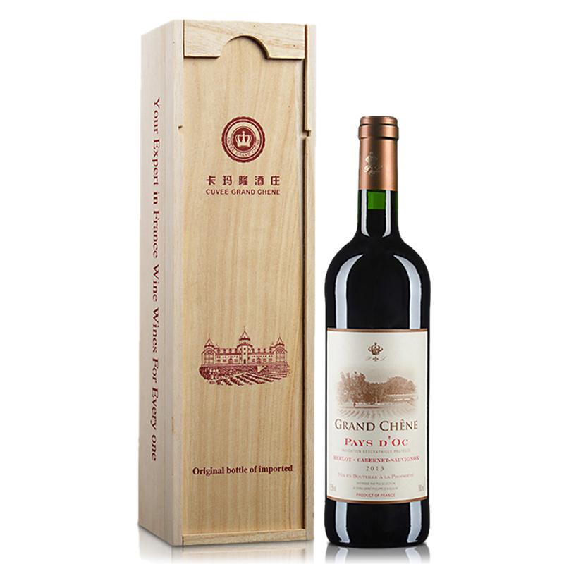 法国红酒 卡玛隆干红葡萄酒 750ml(礼盒装)