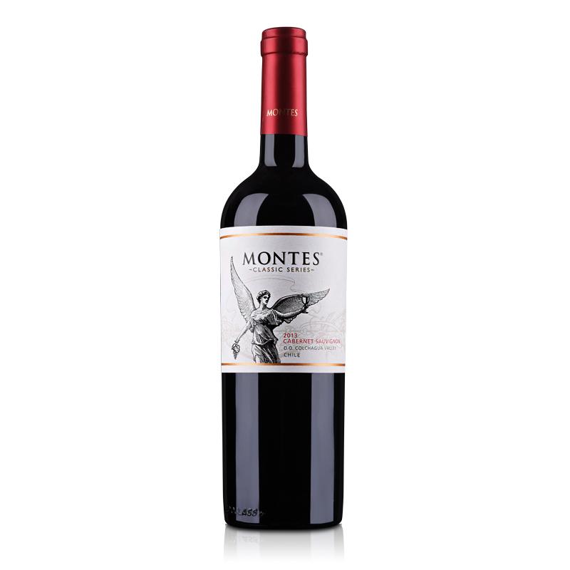 智利红酒蒙特斯经典赤霞珠干红葡萄酒750ml