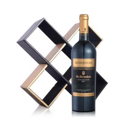 法国圣堡兰帝米内瓦葡萄酒单只多功能礼盒装