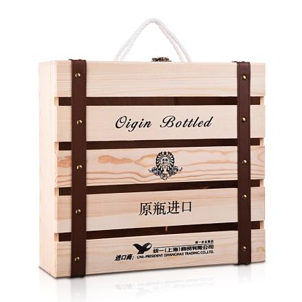统一四只装木盒