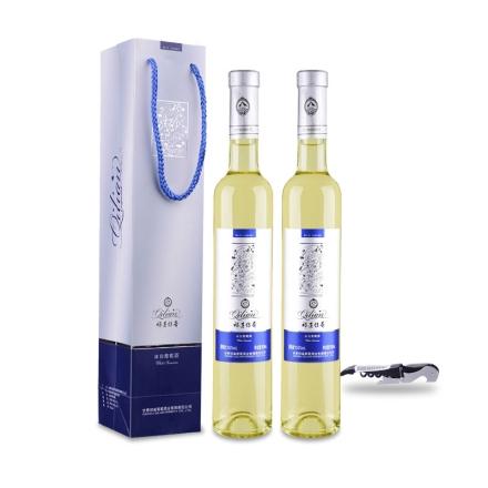 祁连传奇冰白葡萄酒(冰酒)500ml(双瓶装)+黑色酒刀