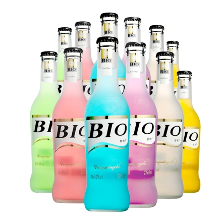BIO鸡尾酒预调酒套装洋酒果酒套装 275ml(12瓶)